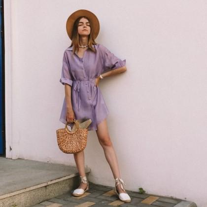 Платье-рубашка цвета лаванды. Моя новая любовь