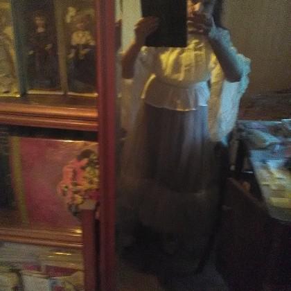 Белая шифоновая блуза с широкими рукавами и кружевом в венецианском стиле от LoliGals Lolita Store.