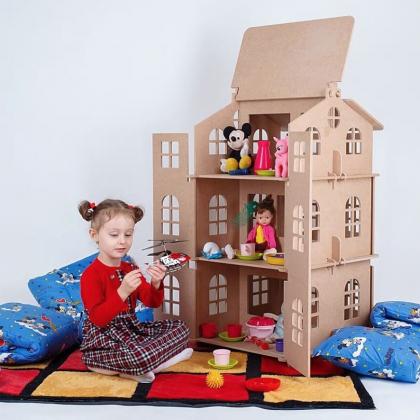 Кукольный домик для раскрашивания с Алиэкспресс