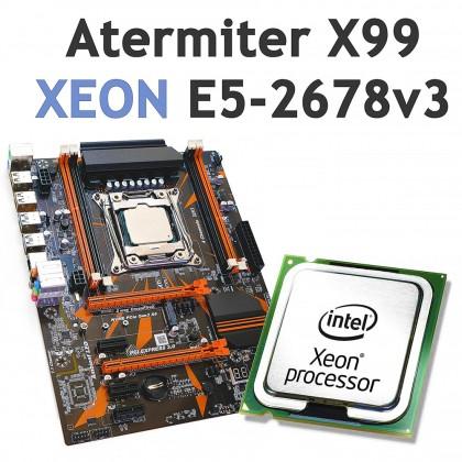 Процессор XEON E5-2678 v3 и материнская плата Atermiter X99