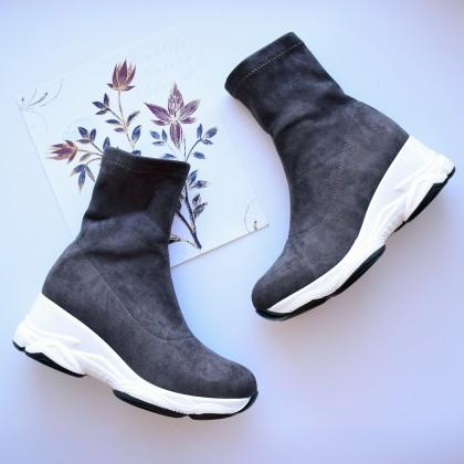 Ботинки из искусственной замши с АлиЭкспресс