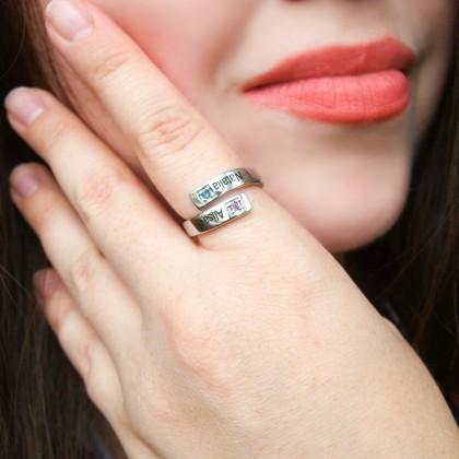 Кольцо с Алиэкспресс с вашими именами
