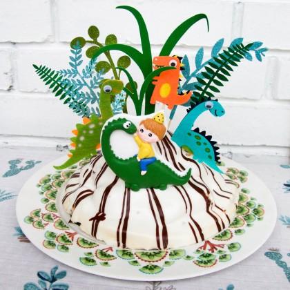 Динозавры на торт