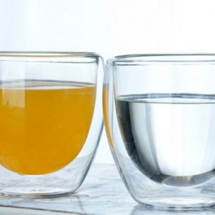 New Heat Resistant Double Wall Glass Cup Whiskey Glass.