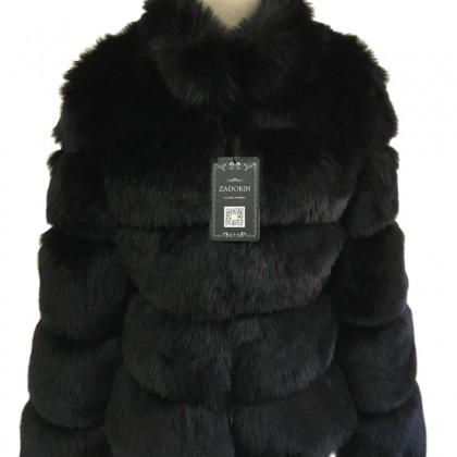 Женское пальто из искусственного лисьего меха