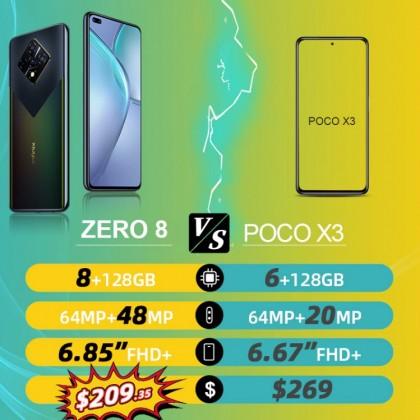 Смартфон Infinix ZERO 8, 6,85 дюймов, 8 ГБ ОЗУ 128 Гб 64 мп, задняя камера