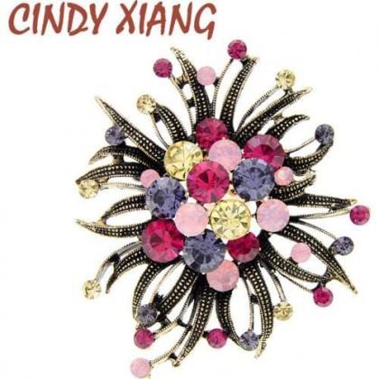Женская Брошь с цветком CINDY XIANG
