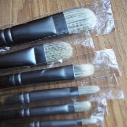 Набор кистей для живописи из барсука