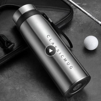 1100ml Portable Double Stainless Steel Vacuum Flask Coffee.