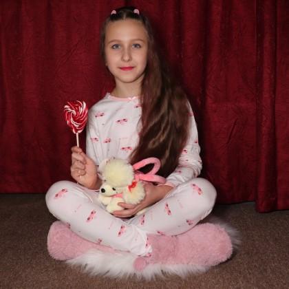 Хлопковый пижамный комплект  для девочек.
