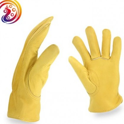 Household Work Cowhide Leather Safety Working Glove.