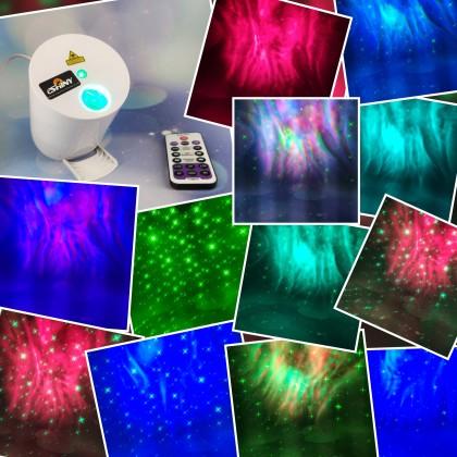 Лазерный проектор и ночной светильник 2в1