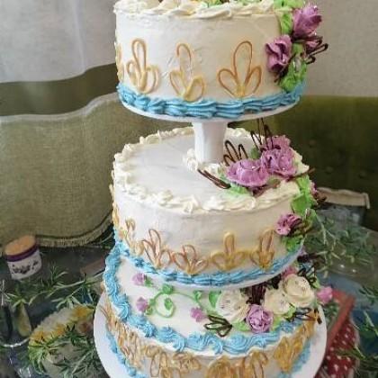 Алиэкспрес в помощь.  Торт на свадьбу сына из трех отдельных ярусов.
