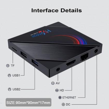 Смарт ТВ коробка 2,4G  5G двухъядерный процессор Wi-Fi BT4.0 Media Player голосовой пульт управления