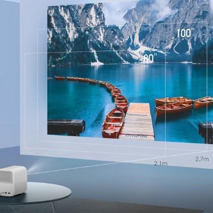 Домашний медиацентр Xiaomi Mijia. Поддерживает 1080P HDMI. Смарт mini- проектор.