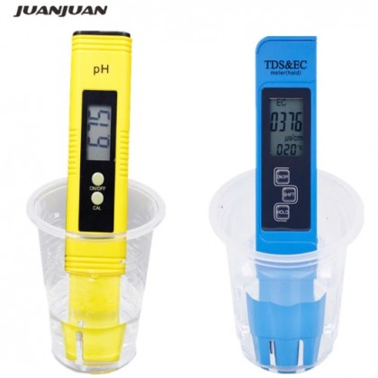 Оценка качества водопроводной воды. Цифровой TDS и рН-метр для питьевой воды. 2 шт.