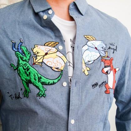 Мужская джинсовая рубашка JACK JONES