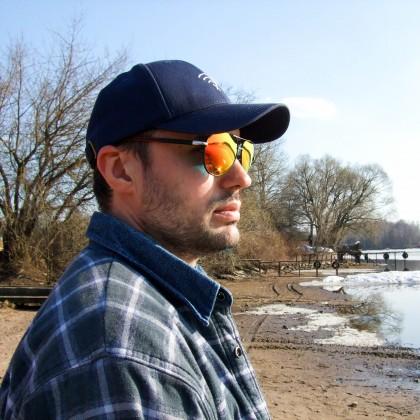 Мужские поляризационные солнцезащитные очки с яркими зеркальными линзами