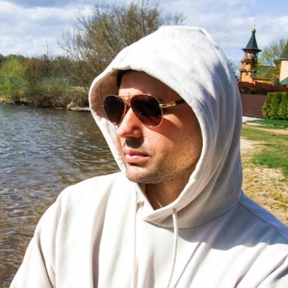 Солнцезащитные очки-авиаторы с нарядными дужками