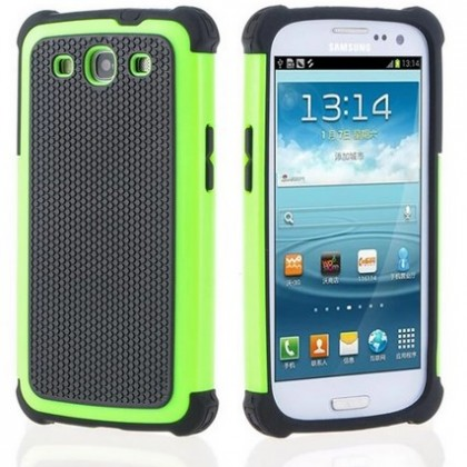Plastic Shockproof Case Silicone Cover For Samsung Galaxy S3.