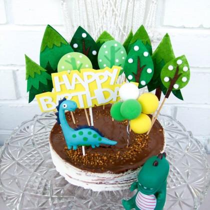 Декор для торта с динозаврами