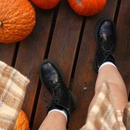 Крутые грубые ботинки на шнуровке с Алиэкспресс