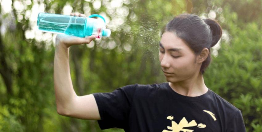 Бутылка для воды с распылителем - отзыв покупателя