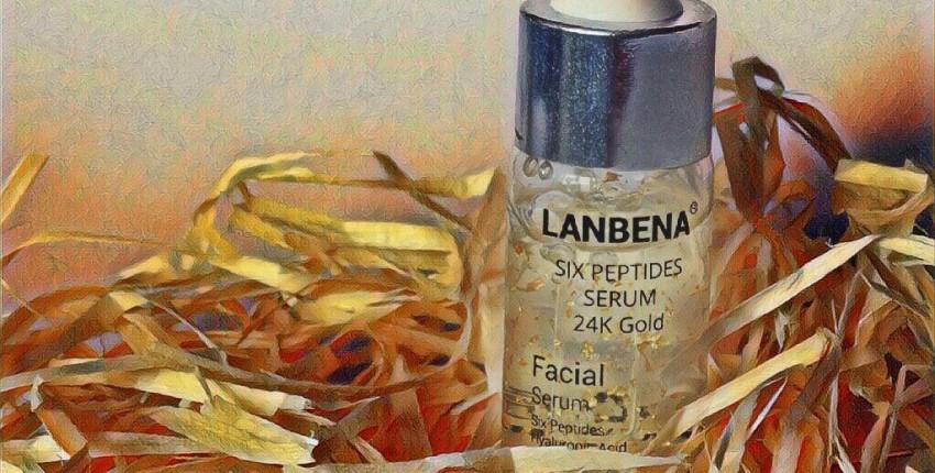 Сыворотка для лица Lanbena Six peptides serum 24K Gold - увлажнение, предотвращение морщин - отзыв покупателя