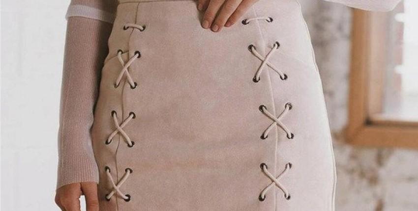 Замшевая юбка на шнуровке - отзыв покупателя