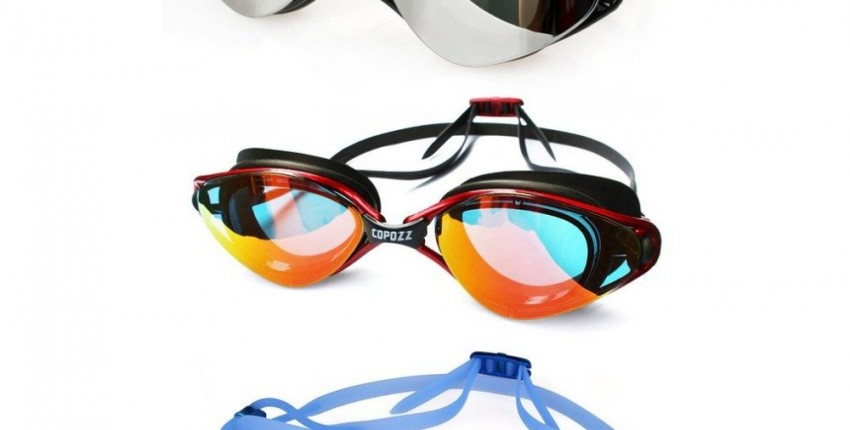 Плавательные водонепроницаемые, силиконовые очки для взрослых Copozz