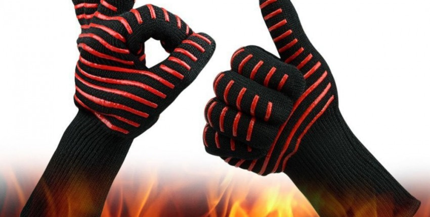 Жаростойкие перчатки для гриля, духовки, камина и т.д.