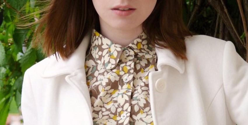 Рубашка цвета Taupe с лиственным орнаментом - отзыв покупателя
