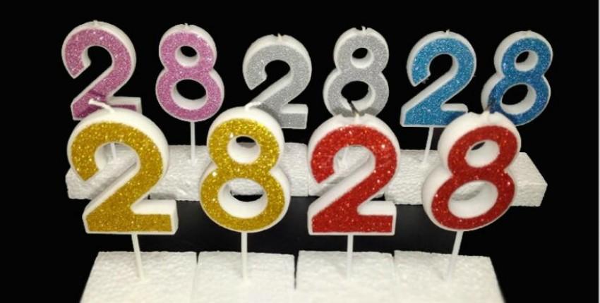 Цифры-свечи для дня рождения. - отзыв покупателя