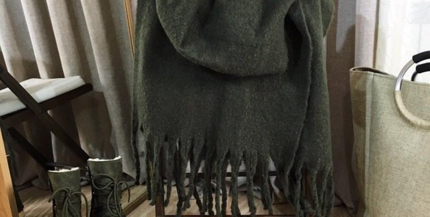 тёплый шарф - отзыв покупателя