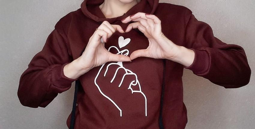 Толстовка с сердечком для любимых 14 - отзыв покупателя