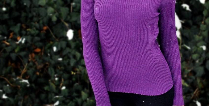 Водолазка пурпурная с люреком! 9 вариантов расцветки!
