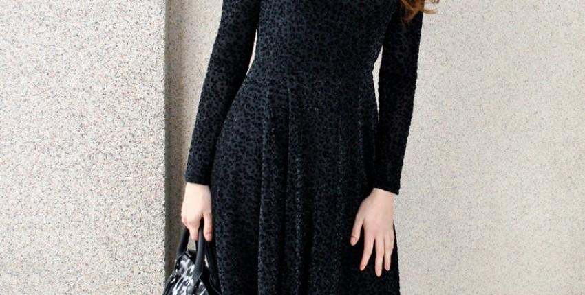 Платье бархатно-гепардовое!