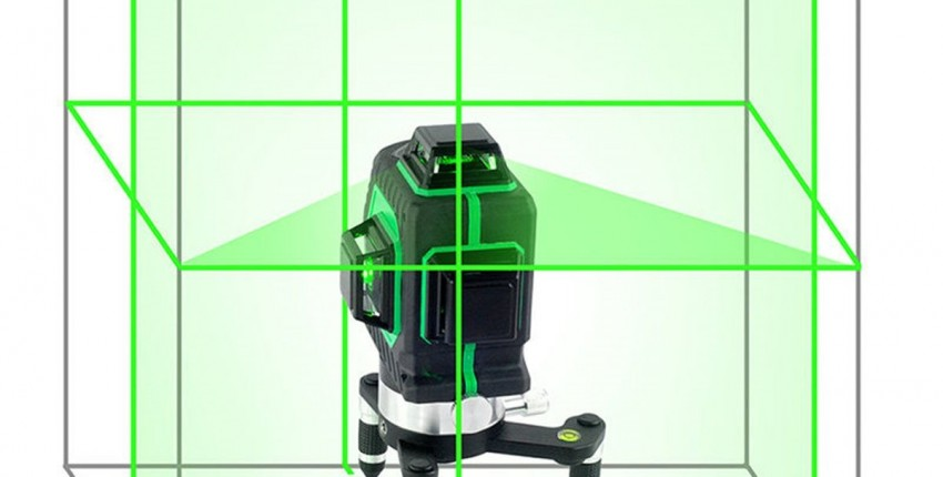 Лазерный уровень 3D 12 линий вертикальные и горизонтальные