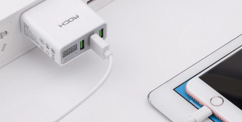 Сетевой адаптер с тремя USB-выходами и  дисплеем с характеристиками тока - отзыв покупателя