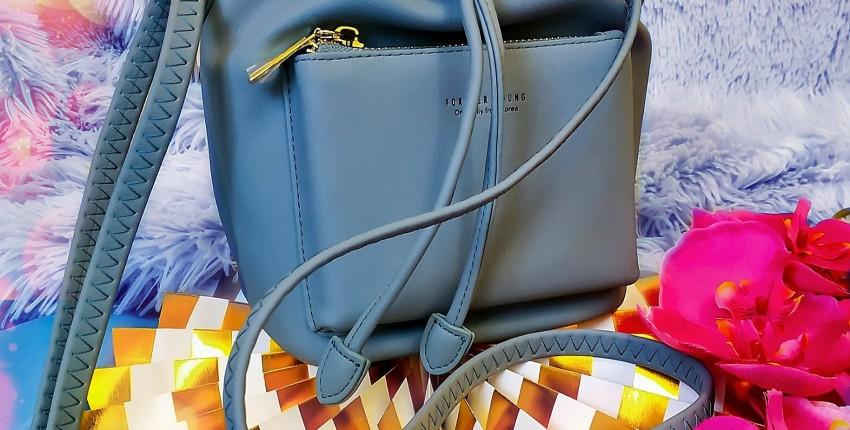 Стильная сумочка серо-голубого цвета. Качество - бомба! - отзыв покупателя