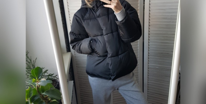 Черная дутая курточка - отзыв покупателя