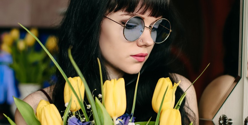 Круглые солнечные очки OuAoKe