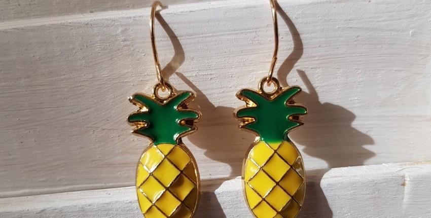 Серьги с ананасами за пол доллара - отзыв покупателя