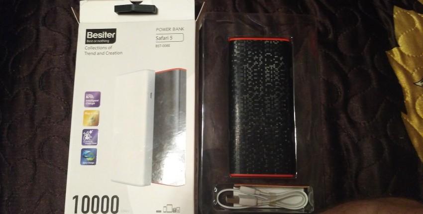 Besiter Power Bank 10000 мАч. PowerBank портативное зарядное устройство. - отзыв покупателя
