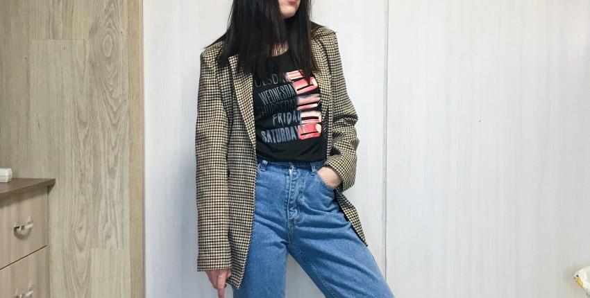 Стильный пиджак в клетку - отзыв покупателя