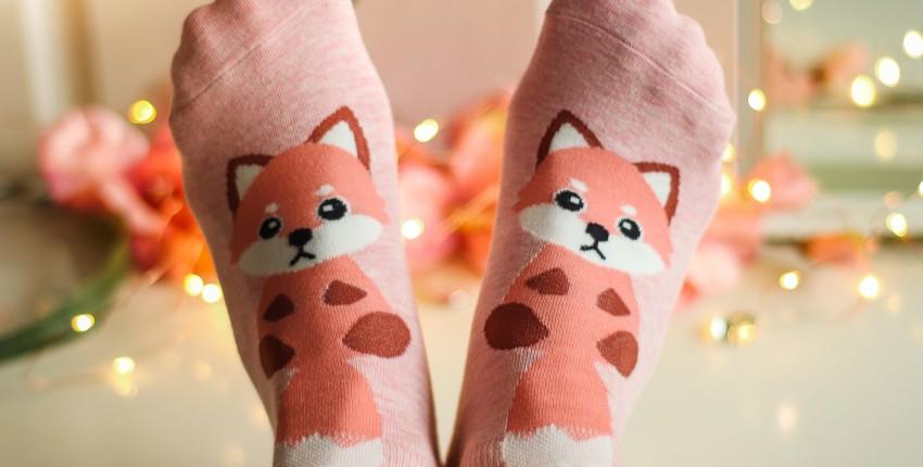 Милые носочки лисички - отзыв покупателя
