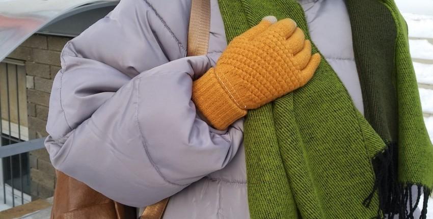 Теплые перчатки с сенсорными вставками