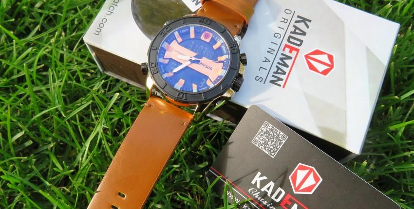 Элитные мужские часы с двойным дисплеем спортивного стиля от KADEMAN - отзыв покупателя