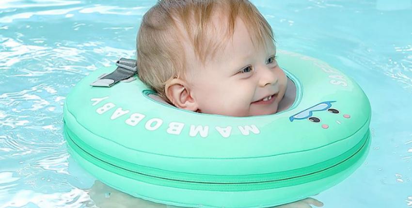 Отличный круг на шею для купания малыша - отзыв покупателя