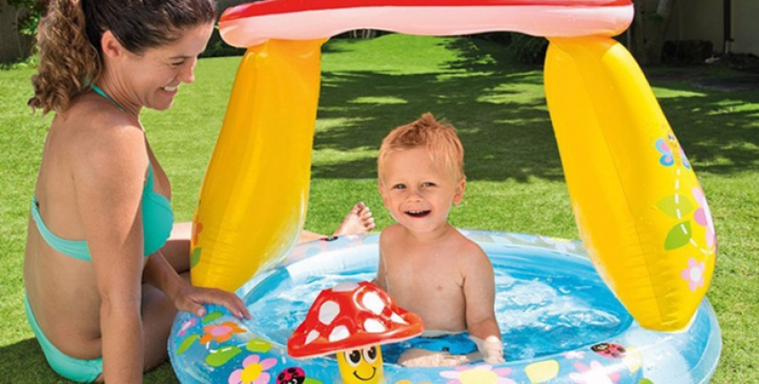 Красочный игровой детский бассейн с навесом от солнца - отзыв покупателя